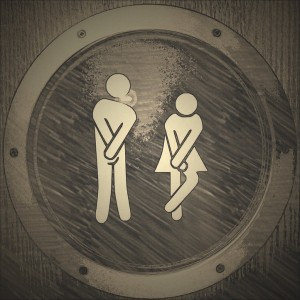 Male & female toilet signs